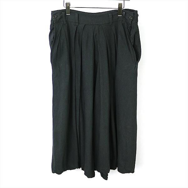 【中古】Yohji Yamamoto POUR HOMME ヨウジヤマモトプールオム 12SS コットンジャージー袴パンツ メンズ ブラック 3