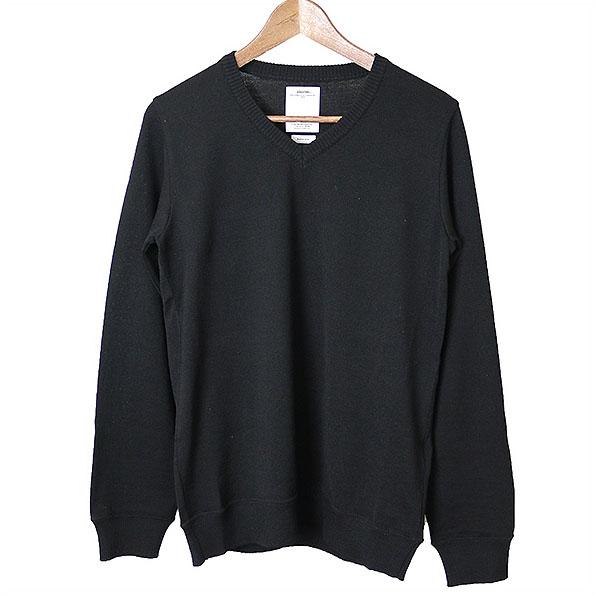 【中古】visvim ビズビム 17AW VNTG V-NECK KNIT メリノウールニットセーター メンズ 秋冬 Vネック ブラック 1