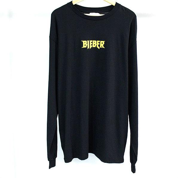 【中古】Purpose Tour パーパスツアー ×BARNEYS NEWYORK BIEBER プリントロングスリーブTシャツ メンズ ブラック XL