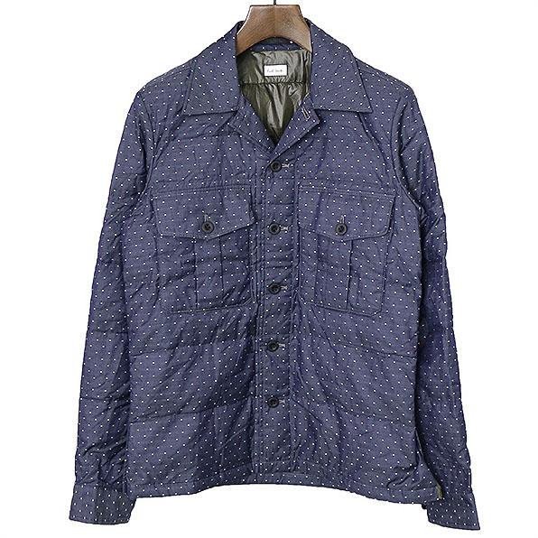 【中古】Paul Smith ポールスミス 13AW ピンドットダウンシャツジャケット メンズ ネイビー M