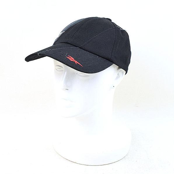 【中古】VETEMENTS ヴェトモン ×REEBOK REWORKED PANEL CAP 再構築 キャップ メンズ ブラック