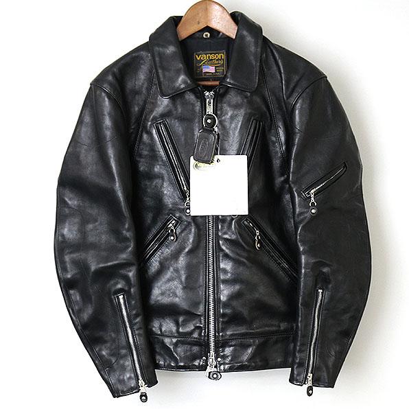 【中古】VANSON バンソン JACKROSE別注 マルチジップシングルライダースジャケット メンズ ブラック L