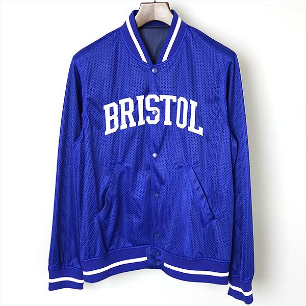 【中古】F.C.Real Bristol(FCRB) エフシーレアルブリストル 15SS メッシュスタジャン メンズ ブルー L