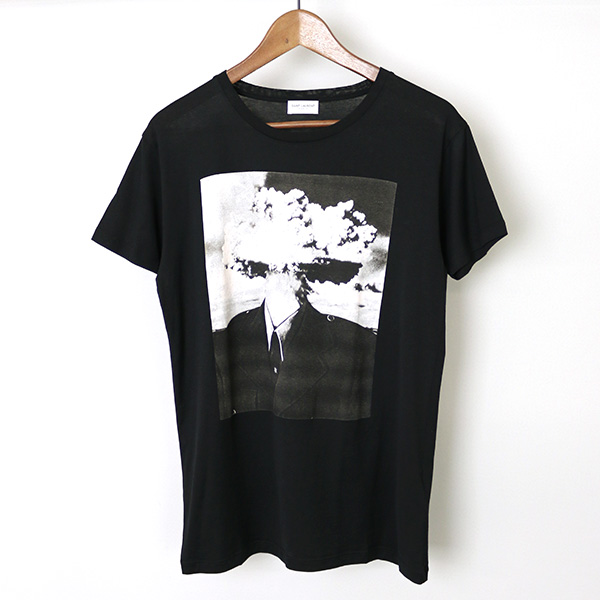 c515a298a99 MODESCAPE Rakuten Ichiba Shop: SAINT LAURENT PARIS Saint-Laurent Paris 15SS  Bombhead print T-shirt men black XS | Rakuten Global Market