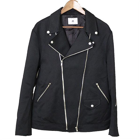 【中古】SOE ソーイ 16AW ウールダブルライダースジャケット メンズ ブラック サイズ表記無し