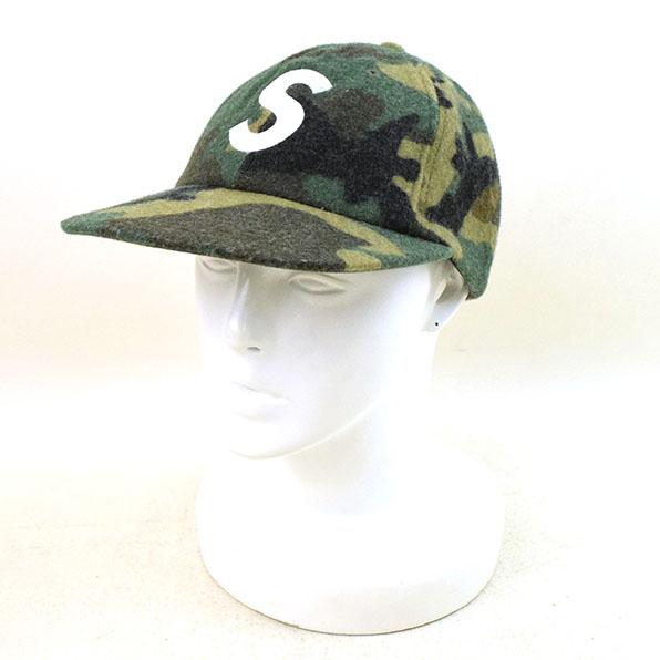 【中古】Supreme シュプリーム 17AW Wool S Logo 6-Panel Camo CAP キャップ メンズ カーキ F【送料無料】