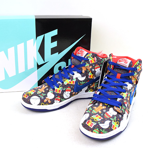 NIKE SB Nike skateboarding X Concepts DUNK HIGH UGLY CHRISTMAS SWEATER sneakers men mixture 26.5cm ...
