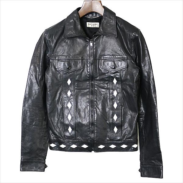【中古】SAINT LAURENT PARIS サンローラン パリ 15SS レザージャケット メンズ ブラック 46