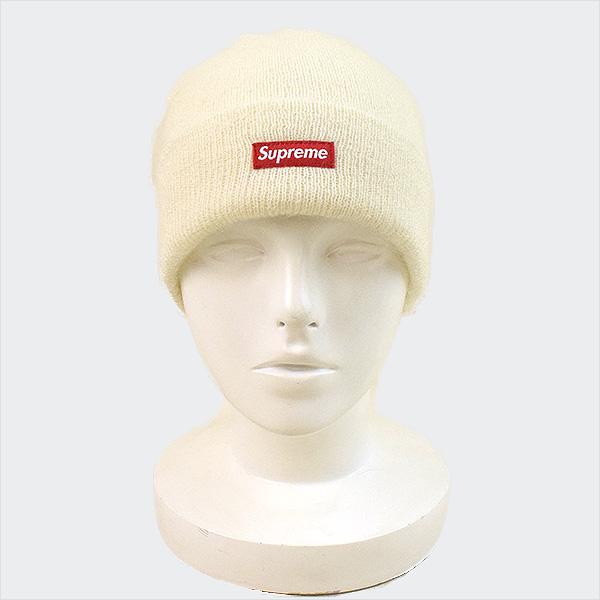 617f0989 ... Supreme シュプリーム 17AW Mohair Beanie beanie knit hat men white ...