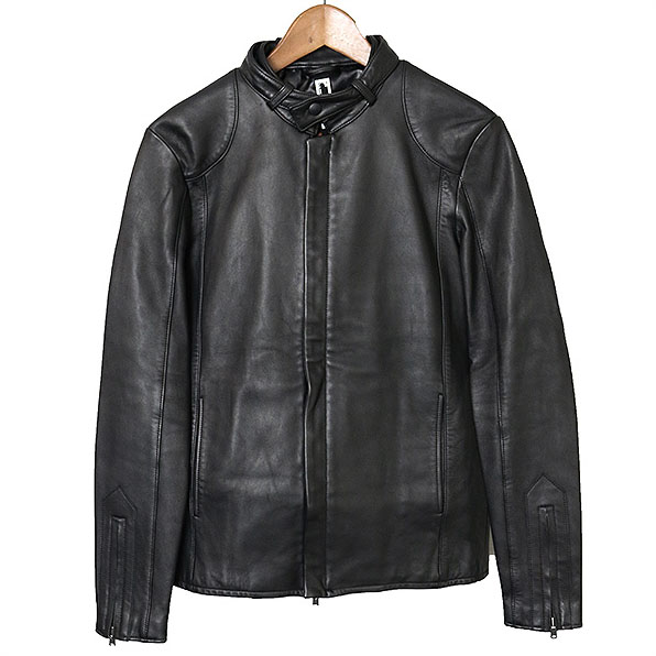 【中古】rLA PROVOCAZIONE ETERNA アール リップヴァンリンクル シングルレザーライダースジャケット メンズ ブラック 4