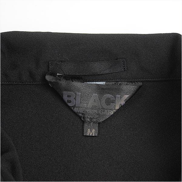 BLACK COMME des GARCONS ブラック コムデギャルソン 16SS 螺旋デザインポリ縮絨3Bジャケット メンズ ブラック MvN0Pwy8nOm