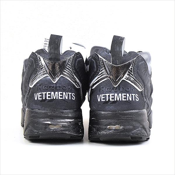 e9960c54a44eb6 VETEMENTS ヴェトモン X Reebok Reebok 17AW INSTA PUMP FURY CANVAS TRAINERS  sneakers men navy 27cm