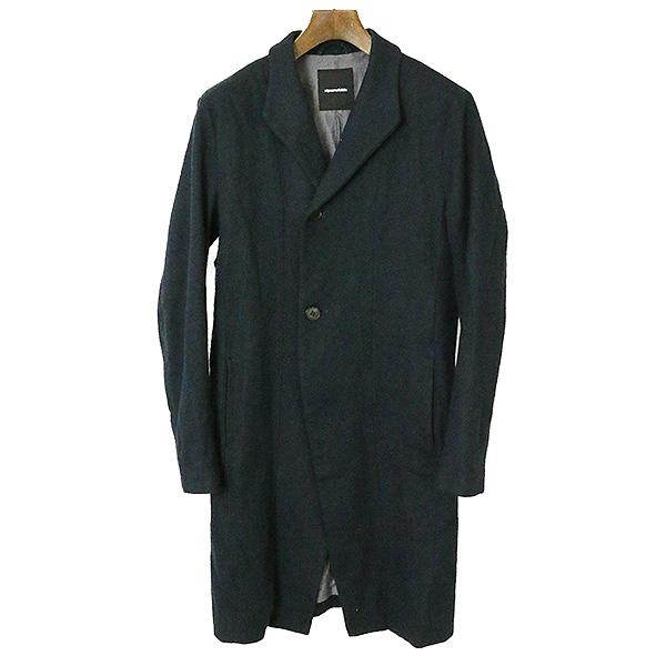 【中古】ripvanwinkle リップヴァンウインクル 16AW Vintage Stand Coat フラノウールスタンドカラーコート メンズ ダークネイビー 4
