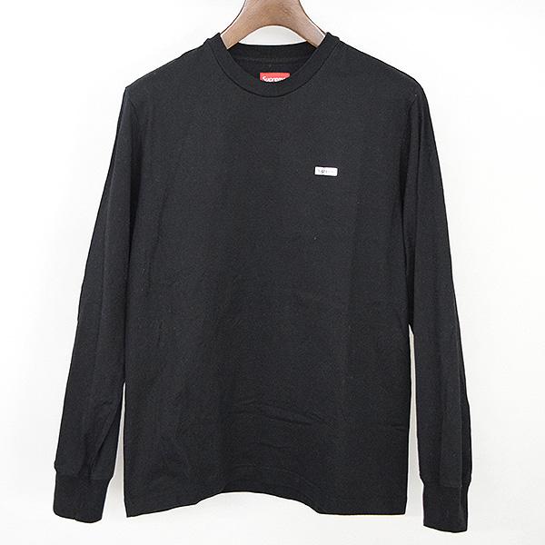 【中古】Supreme シュプリーム 17AW Metallic Box Logo Ls Tee メタリックボックスロゴロングスリーブTシャツ メンズ ブラック S