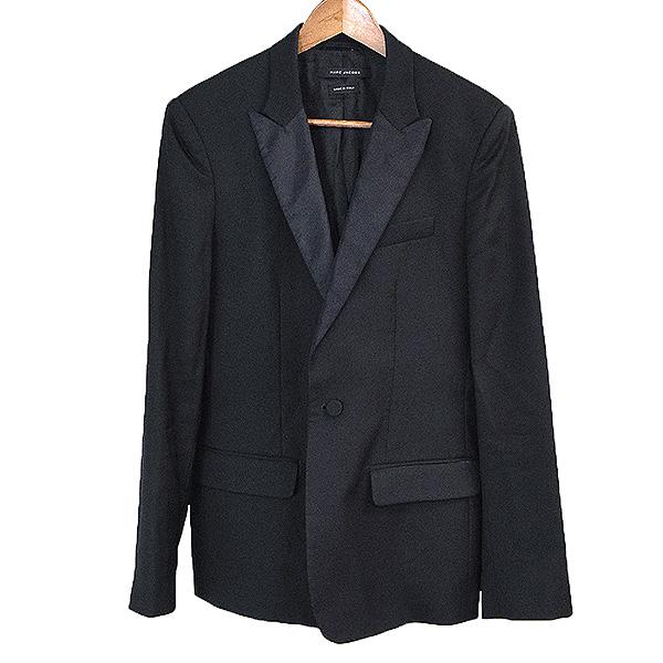【中古】MARC JACOBS マーク ジェイコブス ピークドラペルスモーキングジャケット メンズ ブラック 44