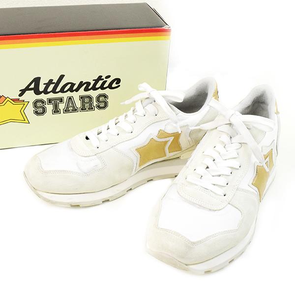 【中古】Atlantic STARS アトランティックスターズ ANTAR BO 86B スニーカー メンズ ホワイト 43(27~27.5cm程度)