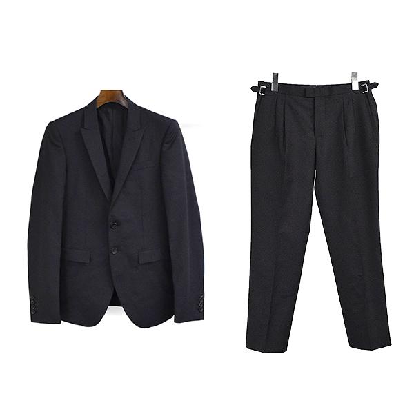 【中古】Rags McGREGOR ラグス マックレガー 13SS ピークドカラーセットアップスーツ メンズ ブラック S