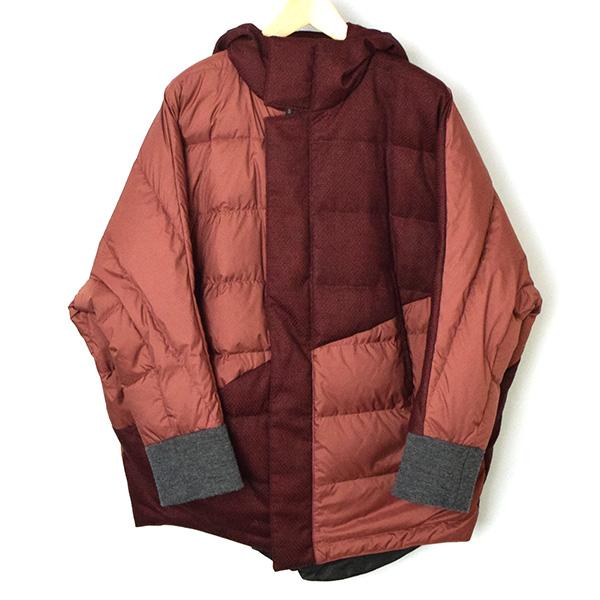 【中古】ka na ta カナタ 16AW dawn jacket フーデッドダウンジャケット メンズ レッド 1