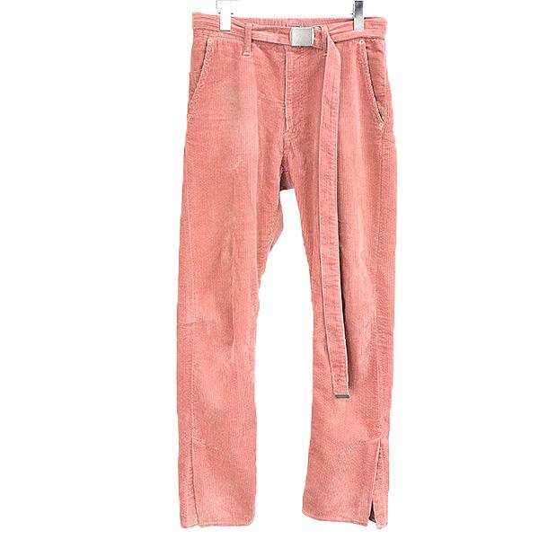 【中古】doublet ダブレット 17AW CORDUROY SKINNY PANTS コーデュロイスキニーパンツ メンズ ピンク S