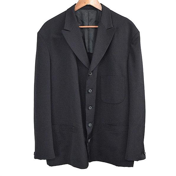 Y's for men ワイズ ボタンデザインウールギャバジン5Bジャケット メンズ ブラック M