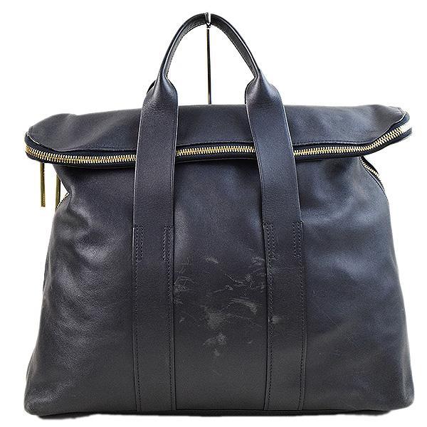 3 1 Phillip Lim Three One Philip Rim 31 Hour Bag Leather Tote Men Navy