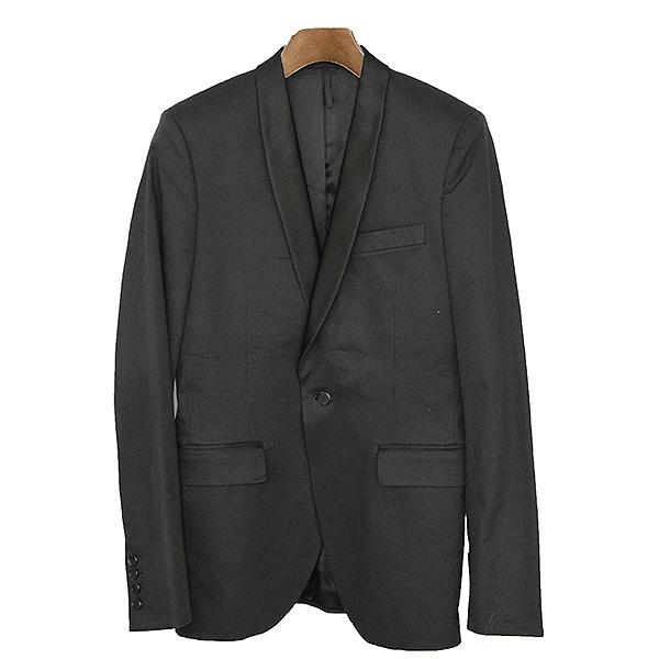 【中古】GIVENCHY ジバンシィ ショールカラースモーキングテーラードジャケット メンズ ブラック 44