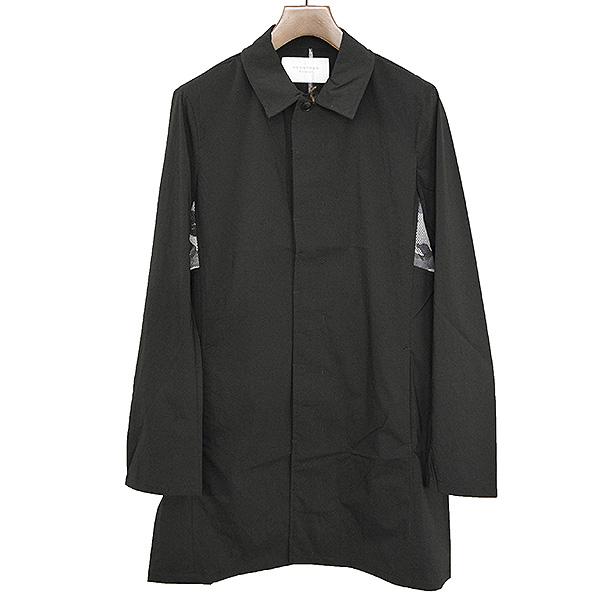 【中古】ACANTHUS アカンサス light shirt coat カモ柄メッシュ加工シャツコート メンズ ブラック L