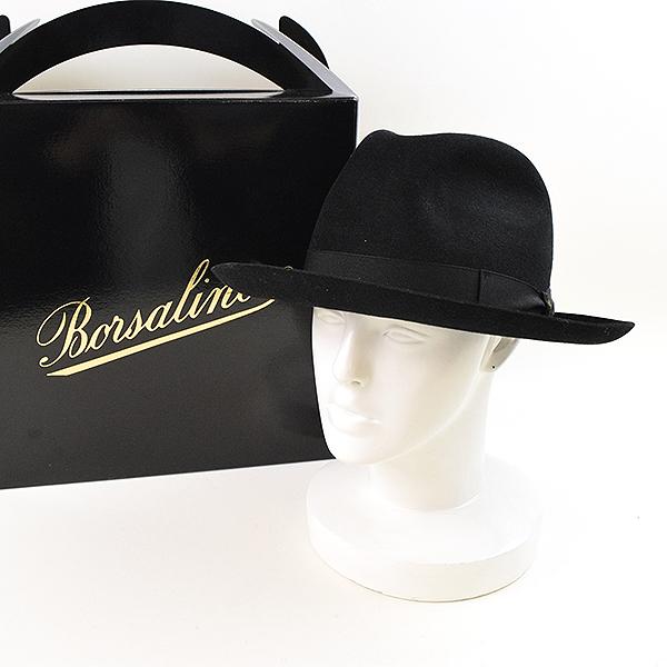 3b04c67f5b9 Borsalino Borsalino 490002 MARENGO rabbit fur Y ditch rim soft felt hat hat  men black 60 (UK7 3 8)