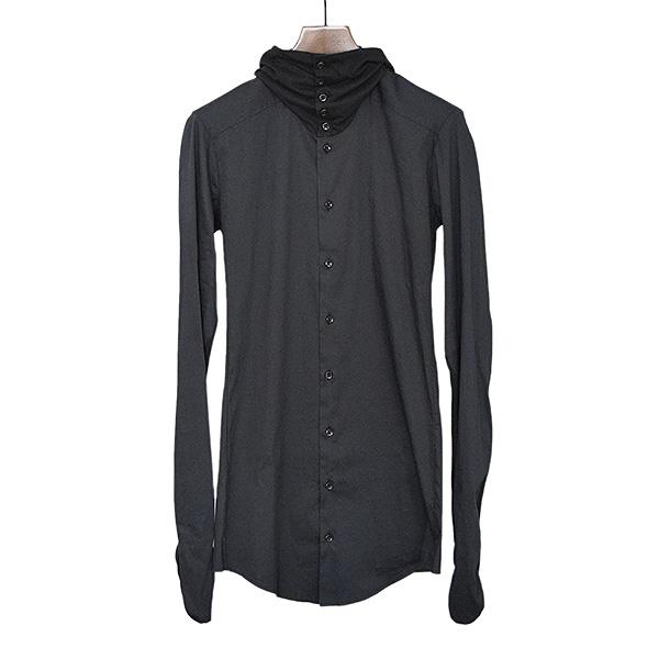 【中古】DAMIR DOMA ダミール ドマ カシミヤ混フードドッキングシャツ メンズ ブラック S