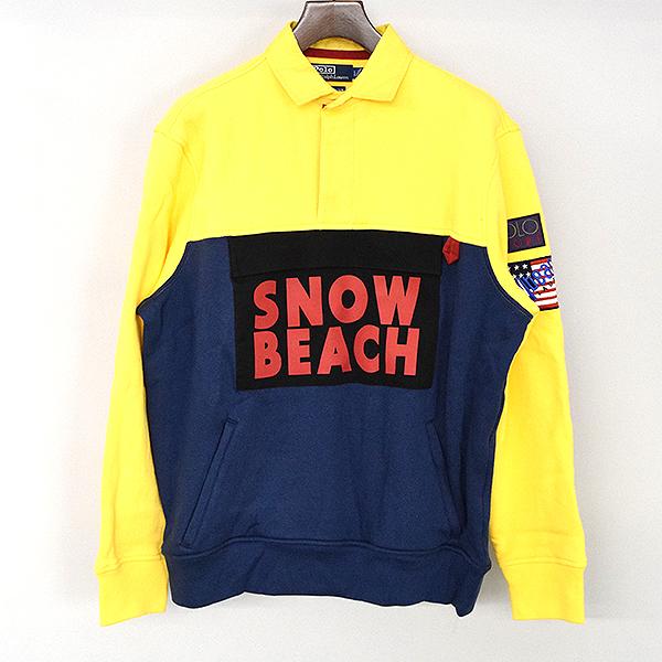 【中古】Polo by Ralph Lauren ポロ バイ ラルフローレン The Snow Beach Fleece Rugby ラガーシャツ メンズ マルチカラー L