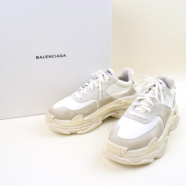 【中古】BALENCIAGA バレンシアガ 18SS TRIPLE S 2.0 トリプルS 2.0 スニーカー メンズ ホワイト 41(27cm程度)