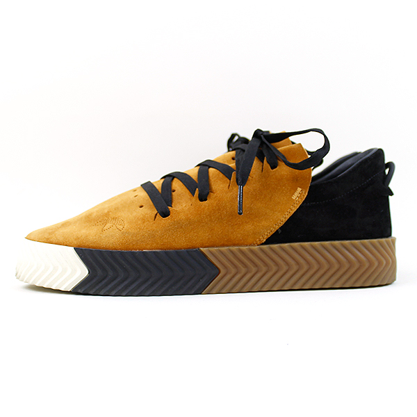 adidas Originals by Alexander Wang Adidas originals by Alexander one 16AW AW SKATE suede cloth leather platform sneakers men brown 27.5cm
