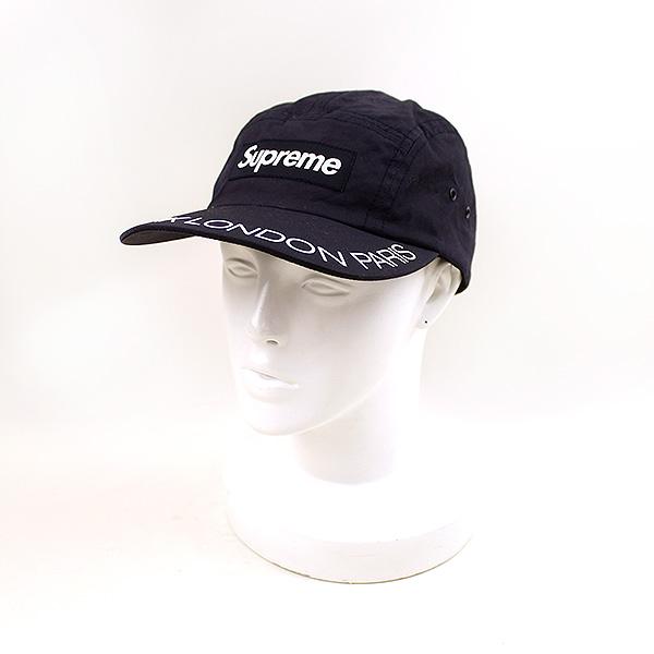 【中古】Supreme シュプリーム 18SS Visor Print Camp Cap メンズ ネイビー