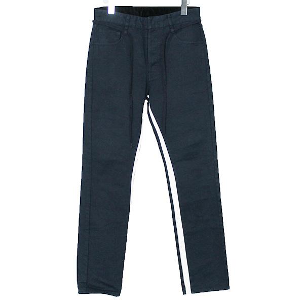 【中古】UNUSED アンユーズド 13SS ドローコード付きラインパンツ メンズ ブラック 1