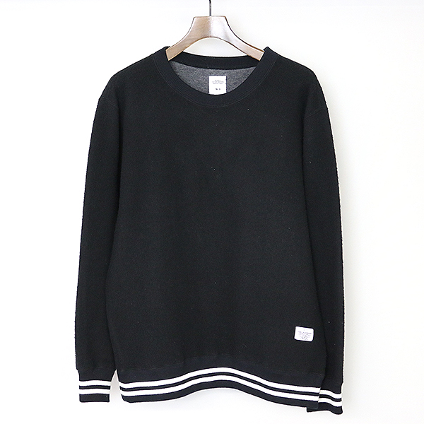 【中古】BEDWIN ベドウィン 17AW L/S WOOL COTTON C-NECK SWEAT