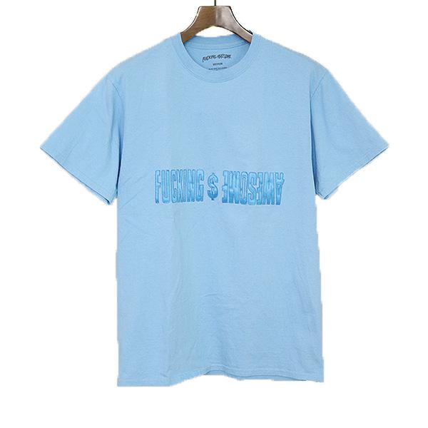 【中古】FUCKING AWESOME ファッキング オウサム ロゴワッペンプリントTシャツ メンズ ブルー M