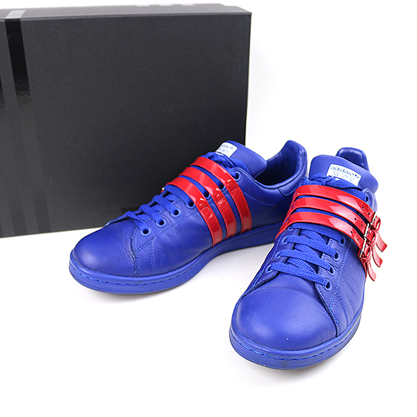 the latest bc9b8 6eda1 adidas by RAF SIMONS Adidas by rough Simmons 16SS STAN SMITH STRAP belt  strap sneakers men blue 27cm