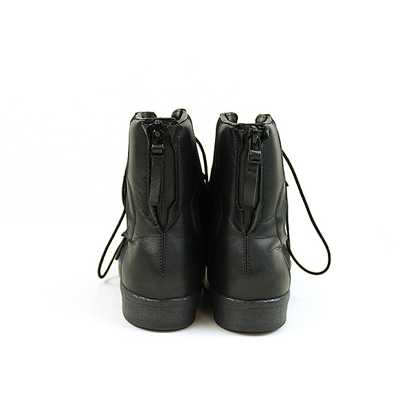 a86cc08143471 Yohji Yamamoto toothpick Yamamoto x adidas 17SS YY PUNK SUPERSTAR leather  combination neoprene high-top sneakers men black 25cm