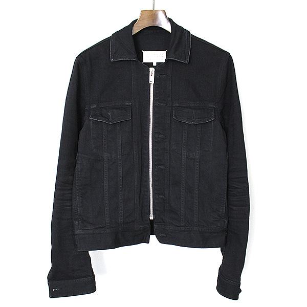 【中古】Maison Martin Margiela10 メゾンマルタンマルジェラ10 16AW BLACK DENIM JACKET ジップアップデニムジャケット メンズ ブラック 48