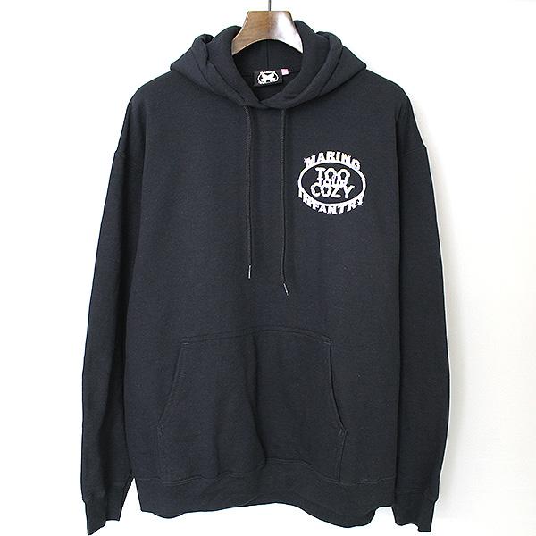 【中古】MARINO INFANTRY マリノインファントリー Too Cozy Tour Logo Hoodie パーカー メンズ ブラック L