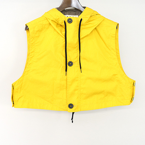 nouveau sélection style top dernières tendances MARNI at H&M Maruni at H and M 12SS hooded gilet best men yellow M