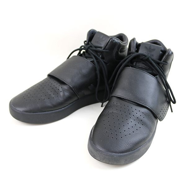 buy online 88815 f479d adidas Adidas TUBULAR INVADER STRAP BW0871 bell Ted middle cut sneakers men  black 26.5cm
