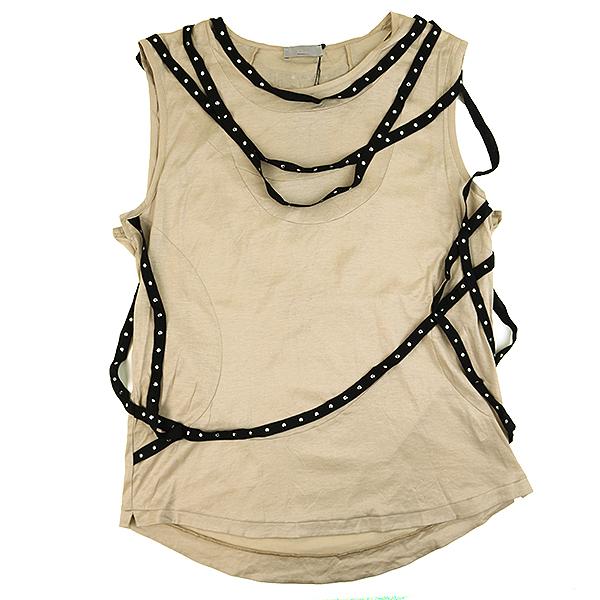輝い 【】Dior HOMME ディオールオム 04SS ボンテージノースリーブカットソー メンズ ベージュ S, MANHATTAN PASSAGEメーカー直営店 1dd32251