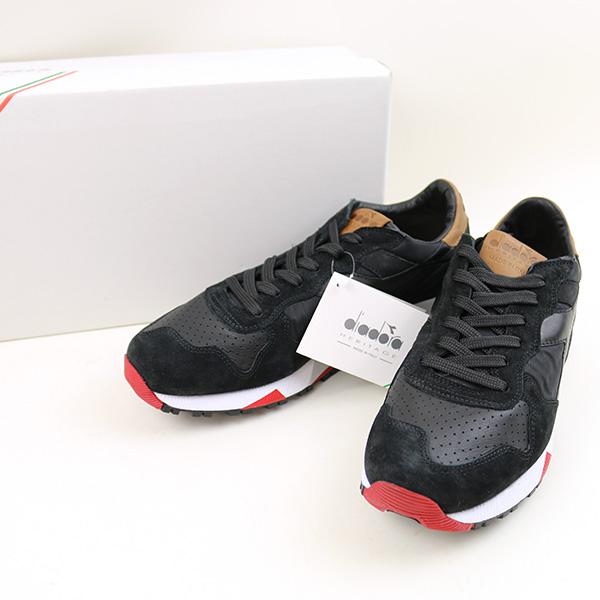 02207f838396 DIADORA Deer gong TRIDENT 90 NYL low-frequency cut sneakers men black 27cm