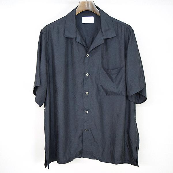 【中古】stein シュタイン 18SS オープンカラーサイドスリット半袖シャツ メンズ ネイビー S