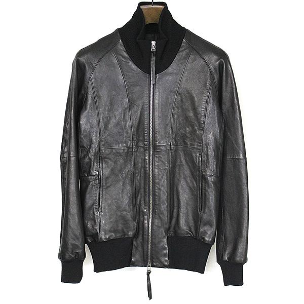 【中古】The viridi-anne ザ ヴィリディアン 14AW ラムレザージップアップブルゾン メンズ ブラック 1【sep_ss】【OUTER】【Leather】