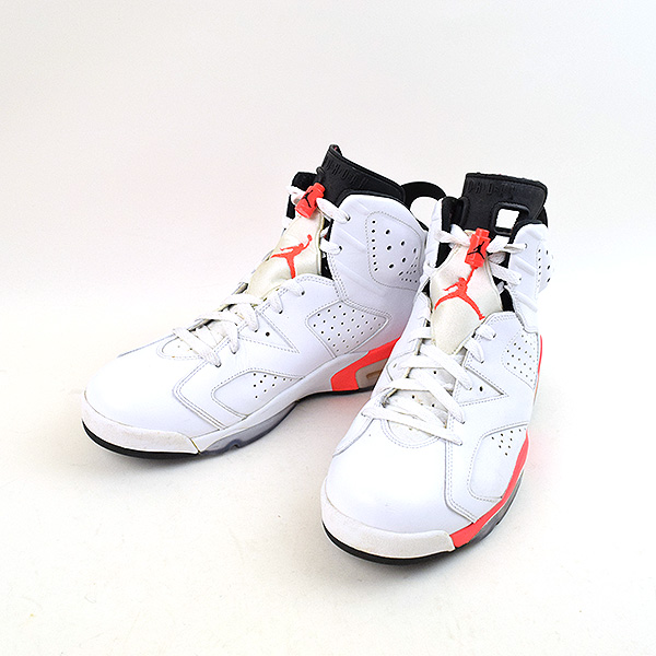 size 40 f57d5 20e3d NIKE Nike AIR JORDAN VI WHITE INFRARED-BLACK higher frequency elimination  sneakers men white 28.5cm
