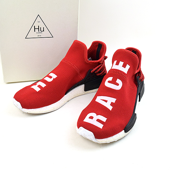 new style ad9bb 5928b ADIDAS BY PHARRELL WILLIAMS Adidas by Farrell Williams HUMAN RACE NMD RED  human race sneakers men red 26.5cm