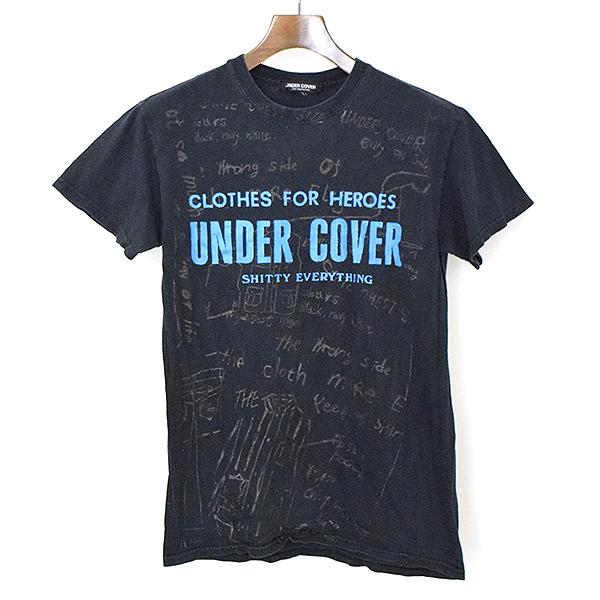 【中古】UNDER COVER アンダーカバー 初期 SHITTY EVERYTHING ロゴスケッチデザインTシャツ メンズ ブラック S