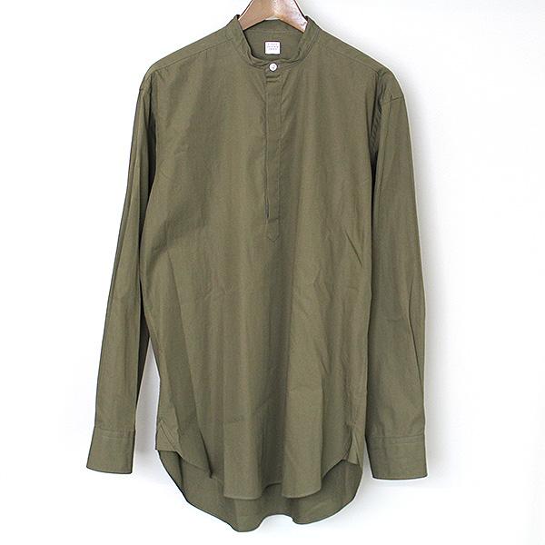 【中古】E.Tautz イートウツ バンドカラープルオーバーシャツ メンズ カーキ 39